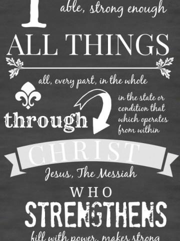 PHILIPPIANS 4:13 CHALKBOARD PRINTABLES