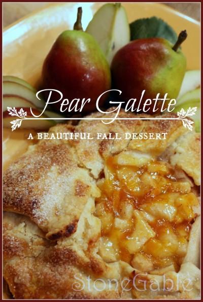 Pear Galette Title Page- stonegableblog