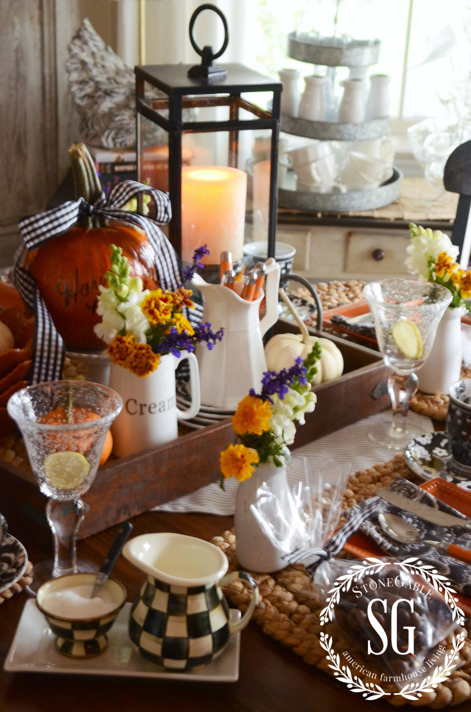 Harvest Blogger S Get Together Tablescape Stonegable