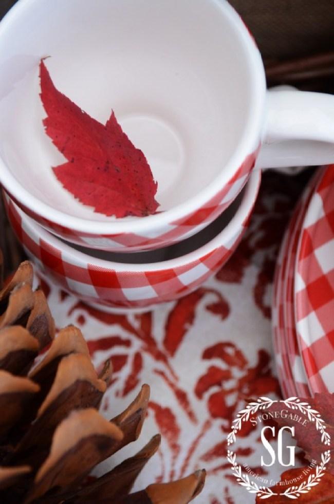 S'more Bar By The Firepit-leaf in cup-stonegableblog.com