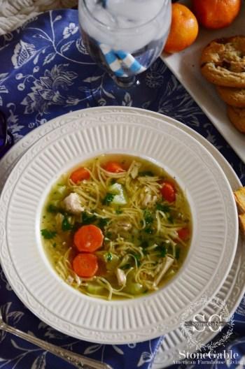 Nani's Chicken noodle sou-stonegableblog.com
