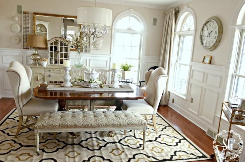 NEW DINING ROOM RUG-dining room-stonegableblog.com