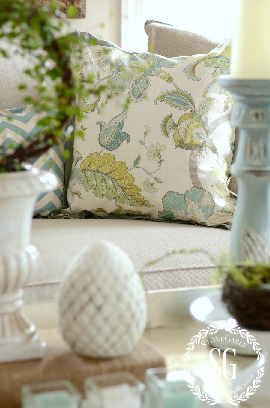 Spring Coffee Table Vignette Stonegable