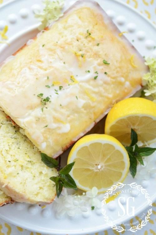 GARDEN TO TABLE-glazed lemon zucchini bread-stonegableblog.com