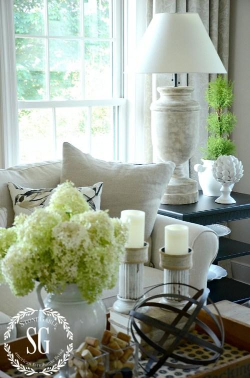 NEW LAMPS IN THE LIVING ROOM-big lamps-neutrals-stonegableblog.com