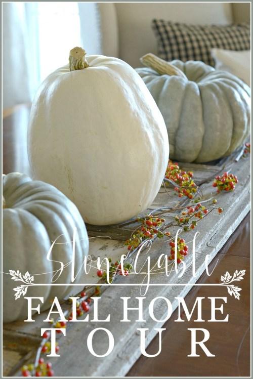 FALL HOME TOUR-bringing the natural element of fall inside-stonegableblog.com