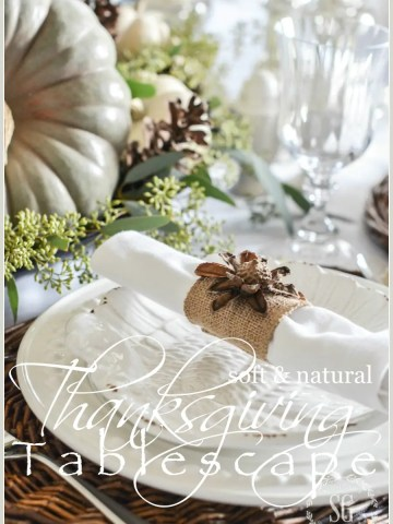 SOFT AND NATURAL THANKSGIVING TABLESCAPE
