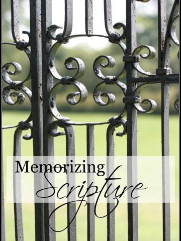MEMORIZING SCRIPTURE