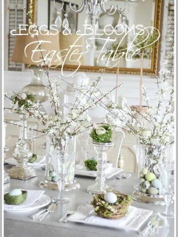 EGGS AND BLOOMS EASTER TABLE