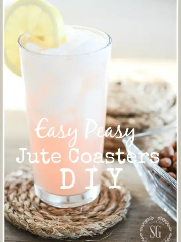 EASY PEASY JUTE COASTER DIY