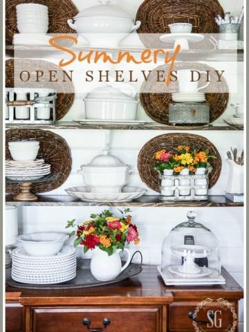 SUMMERY OPEN SHELVES DIY