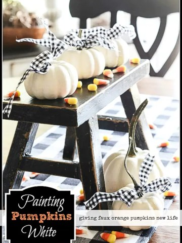 PAINTING PUMPKINS WHITE