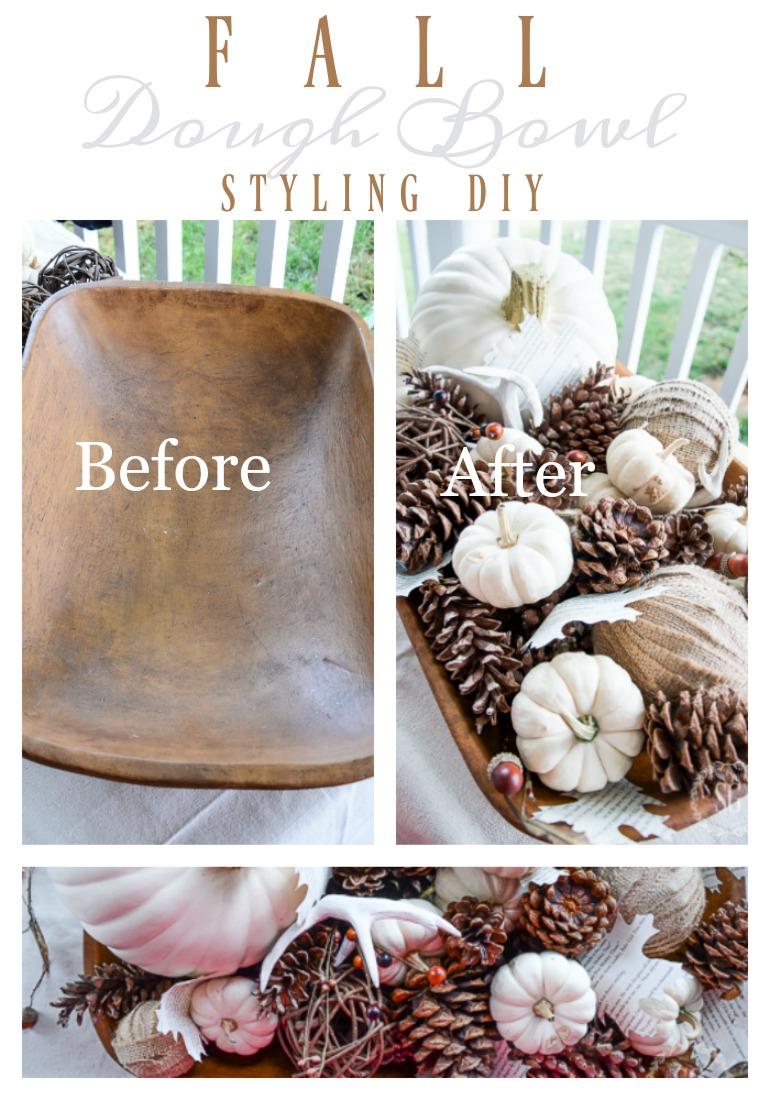 Fall Dough Bowl Styling Stonegable