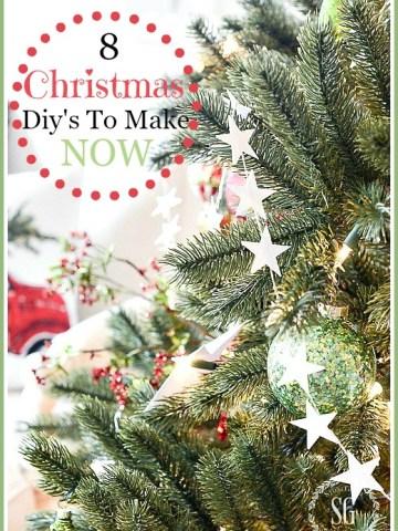 8 CHRISTMAS DIY'S TO MAKE NOW!