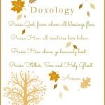 DOXOLOGY PRINTABLE