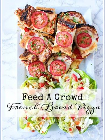 FEED A CROWD FRENCH BREAD PIZZA