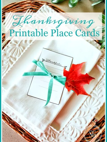 """THANKFUL"" PLACE CARDS"