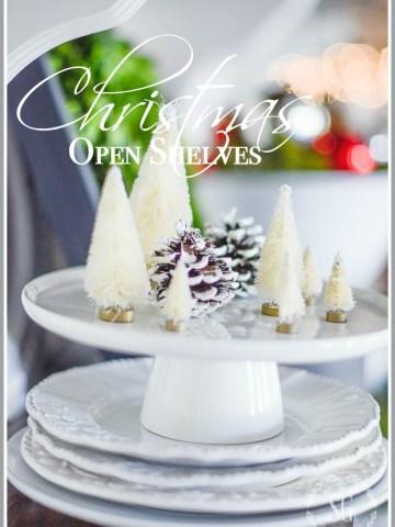CHRISTMAS OPEN SHELVES