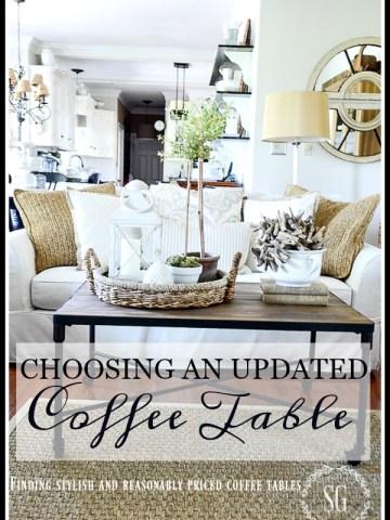 CHOOSING AN UPDATED COFFEE TABLE