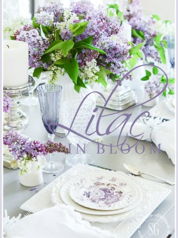LILACS IN BLOOM TABLESCAPE