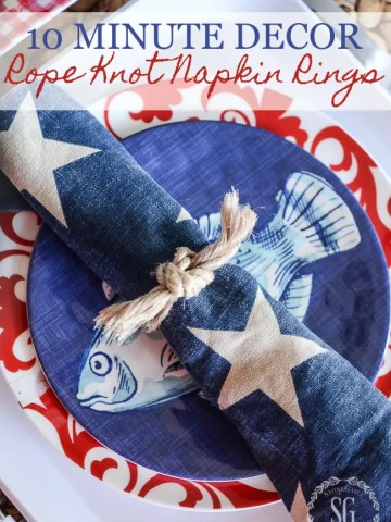 10 MINUTE ROPE KNOT NAPKIN RINGS