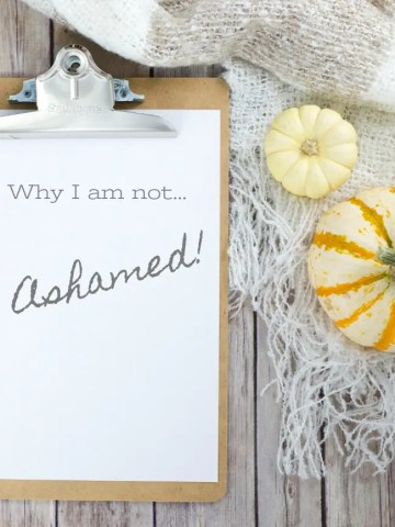 WHY I AM NOT ASHAMED