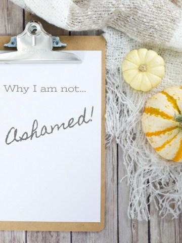WHY I AM NOT ASHAMED