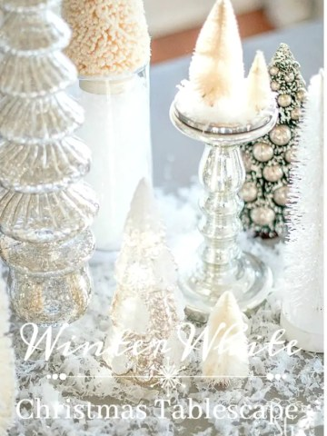 WINTER WHITE TREES TABLESCAPE