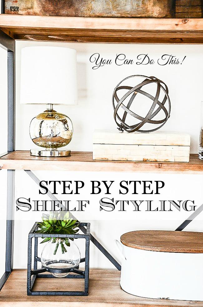 Shelves in the living room stonegable for Things to put on shelves in living room