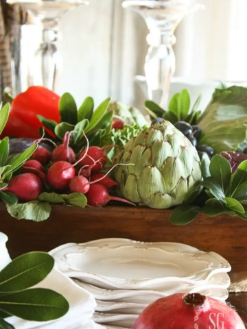 THANKSGIVING VEGETABLE CENTERPIECE AND MORE!