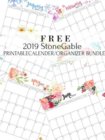 2019 Free Printable Subscriber Calendar Bundle