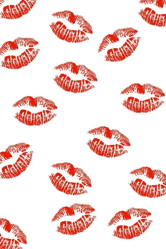 red kissy lip paper for Valentine diy