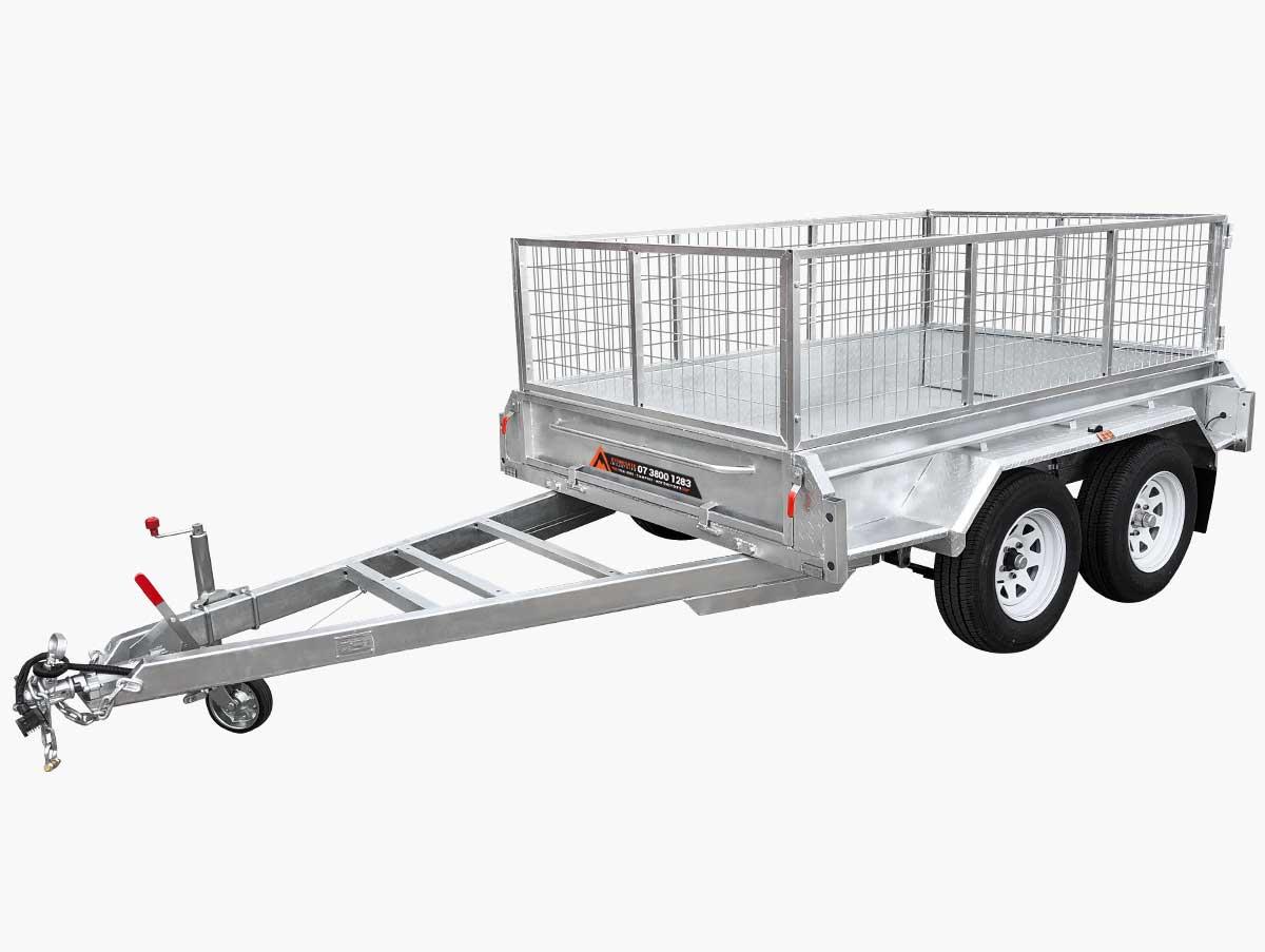 10x5 tandem trailer dual