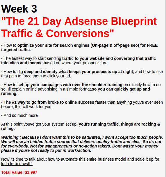 The 21 Day Adsense Blueprint Session Review Invest Create Successful Adsense Campaign