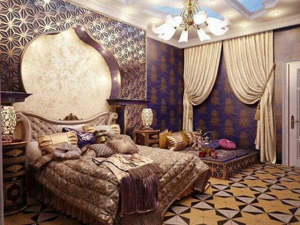 luxurious arabic style bedroom Moroccan Bedroom Theme For An Exotic Look