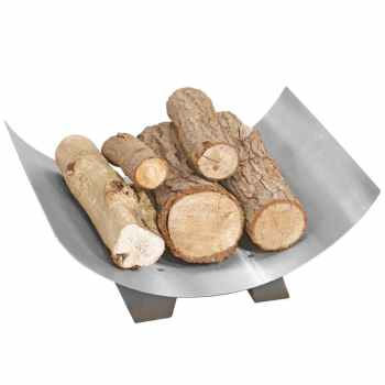 Crescent Log Tray pewter