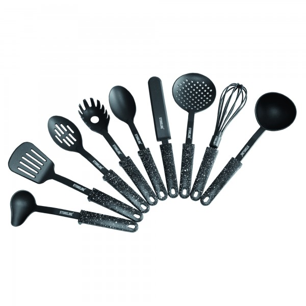 kitchen utensil set portable islands stoneline of 9 with convenient foot