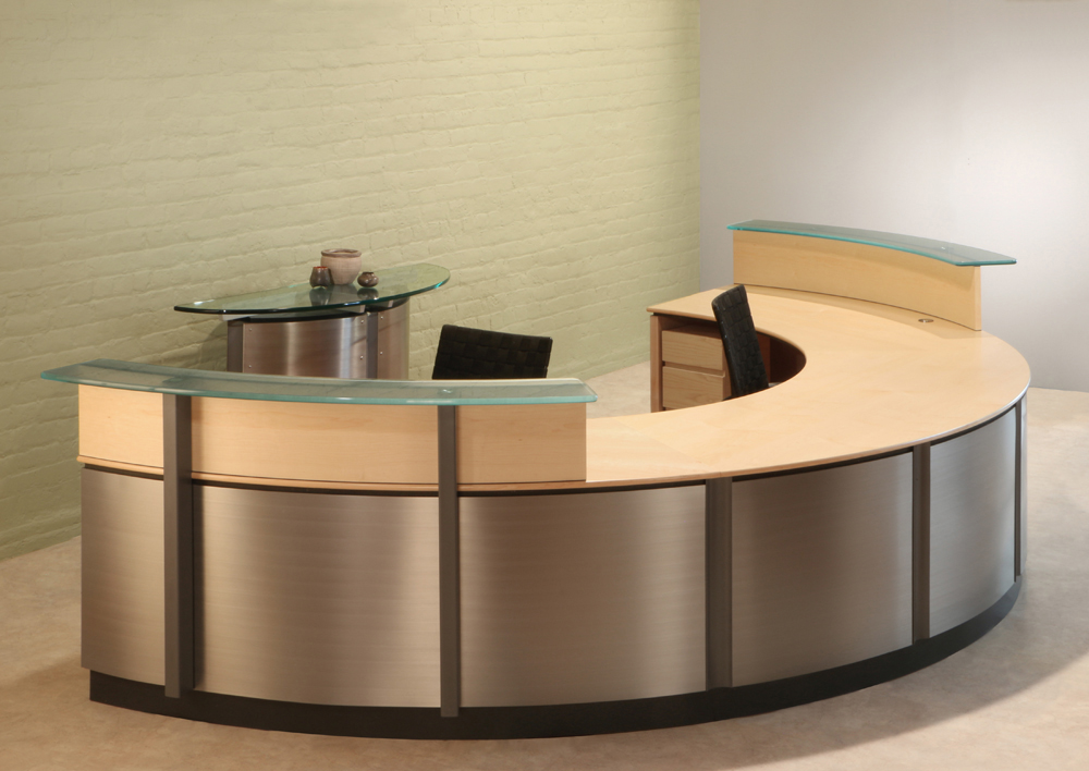 SemiCircle Reception Desk  Reception Desks  Stoneline