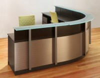 Wrap around Reception Desk | Modern Wood and Glass ...