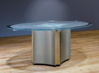 Oval Glass Dining Table | Stoneline Designs