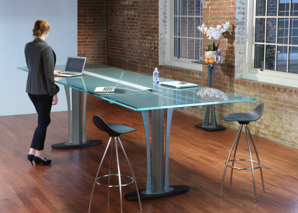 Standing height Conference Table  Stoneline Designs