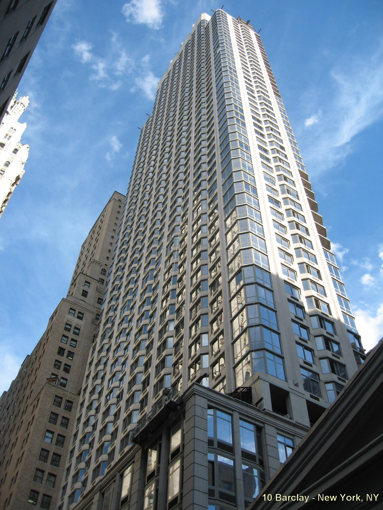 10 Barclay Tower NY 57 Stories of Lightweight Stone Panels