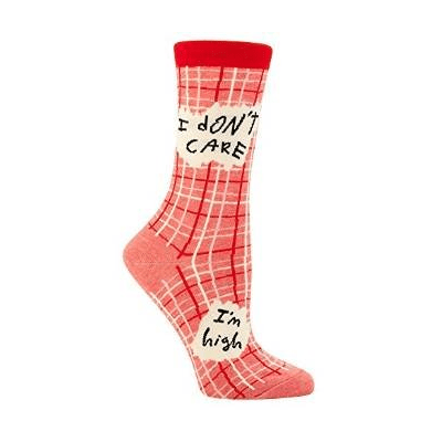 I Don't Care I'm High Crew Socks