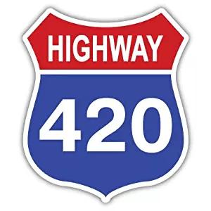 Highway 420 Sticker