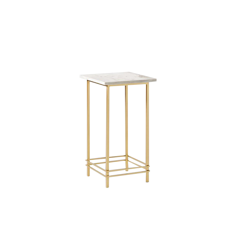 square marble side table with gold legs
