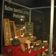 Indian Artifact Axe Display 002