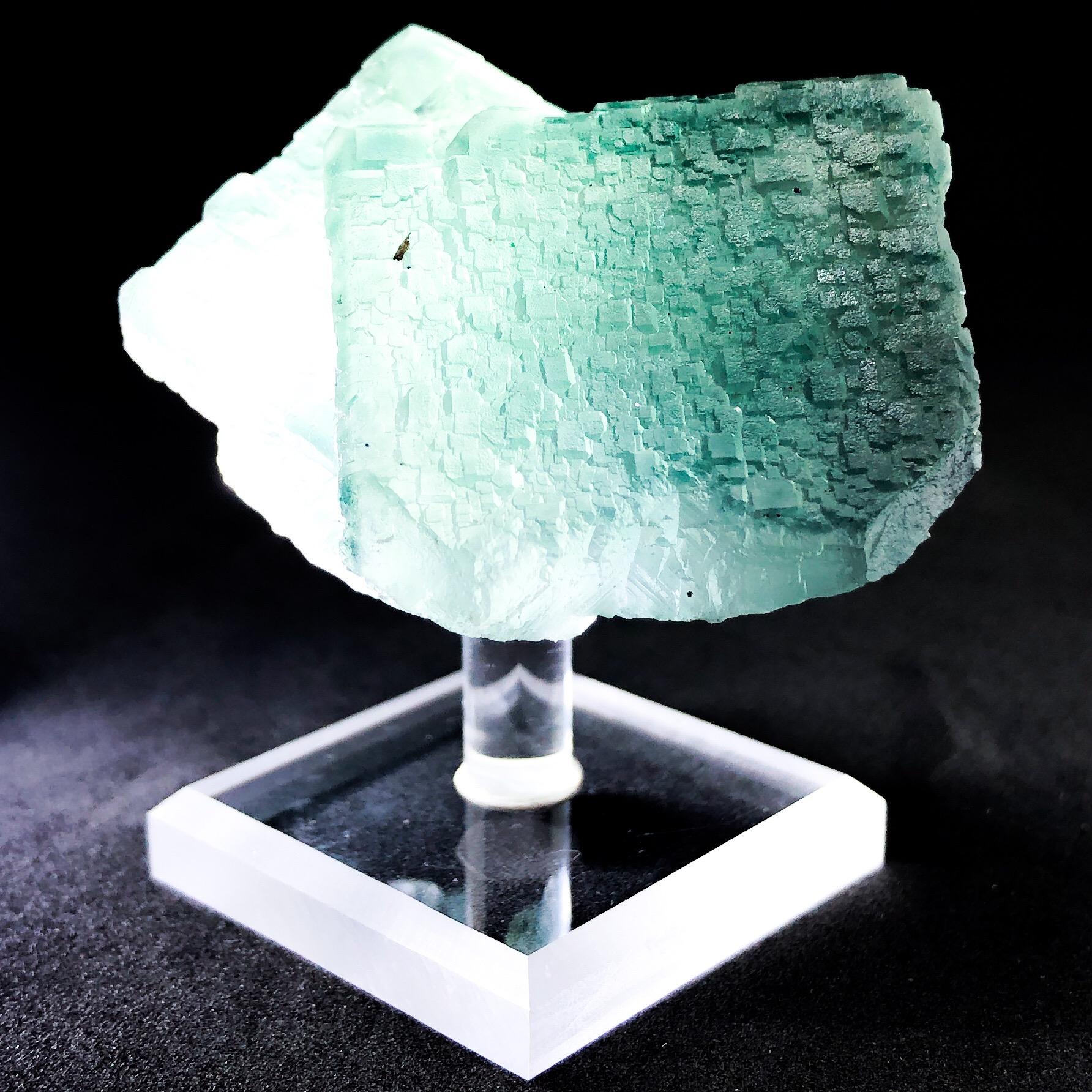 Green/Blue Semi-Transparent Fluorite