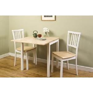 small kitchen table set black granite countertops tables for spaces stone s finds jackson 3pc white and natural dropleaf
