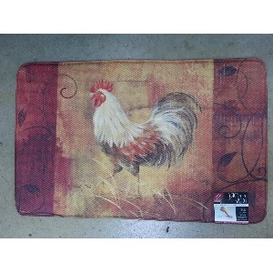 kitchen foam mats aid accessories memory mat stone s finds soft for standing with rooster design