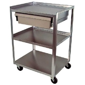 stainless steel kitchen cart playset for toddlers stone s finds with economy drawer assembled